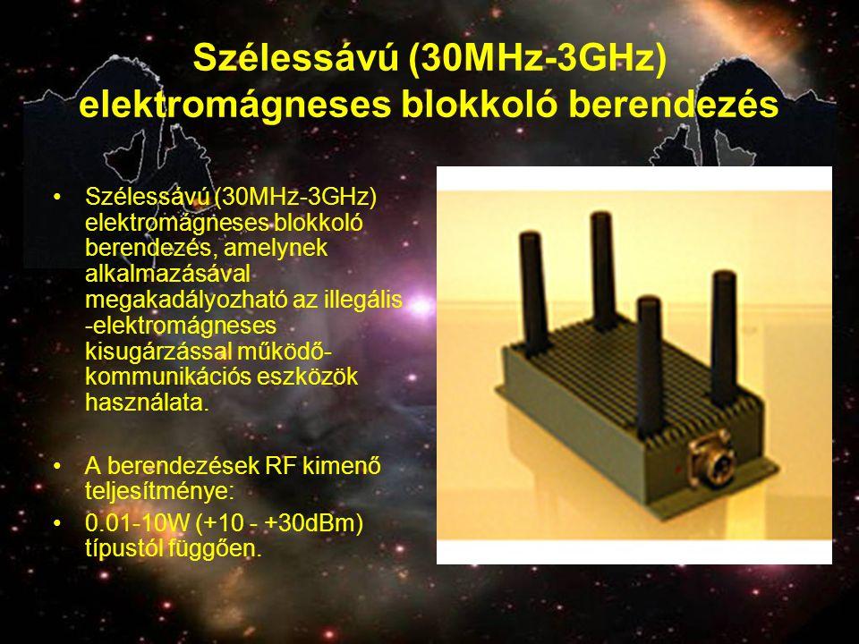 Szélessávú (30MHz-3GHz) elektromágneses blokkoló berendezés
