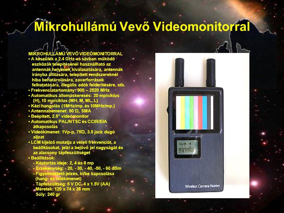 Mikrohullámú Vevő Videomonitorral