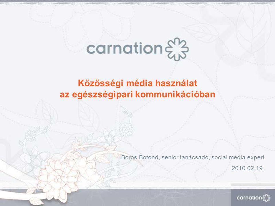Közösségi média használat az egészségipari kommunikációban