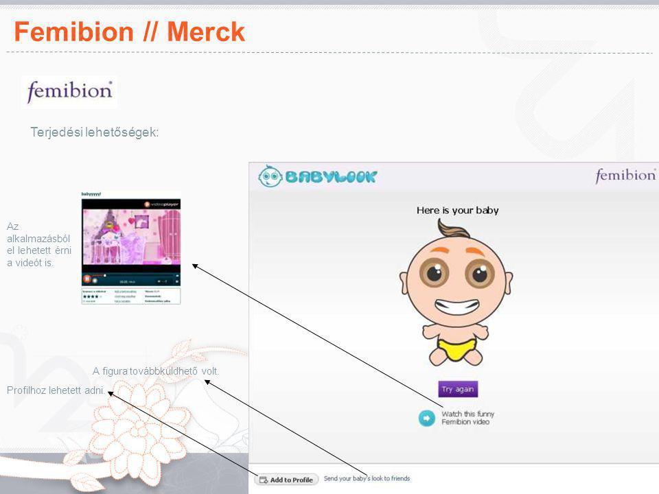 Femibion // Merck Terjedési lehetőségek: 13
