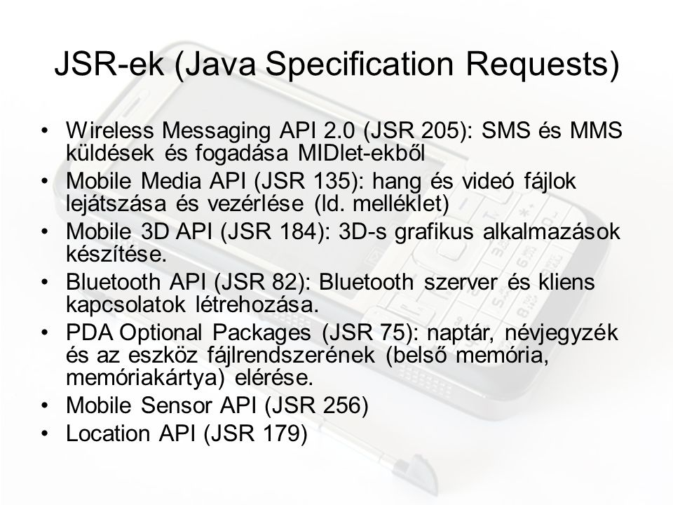 JSR-ek (Java Specification Requests)