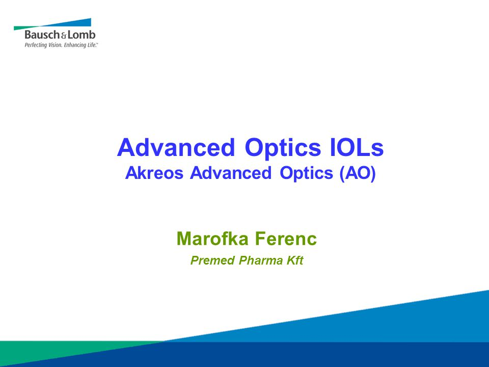 Advanced Optics IOLs Akreos Advanced Optics (AO)