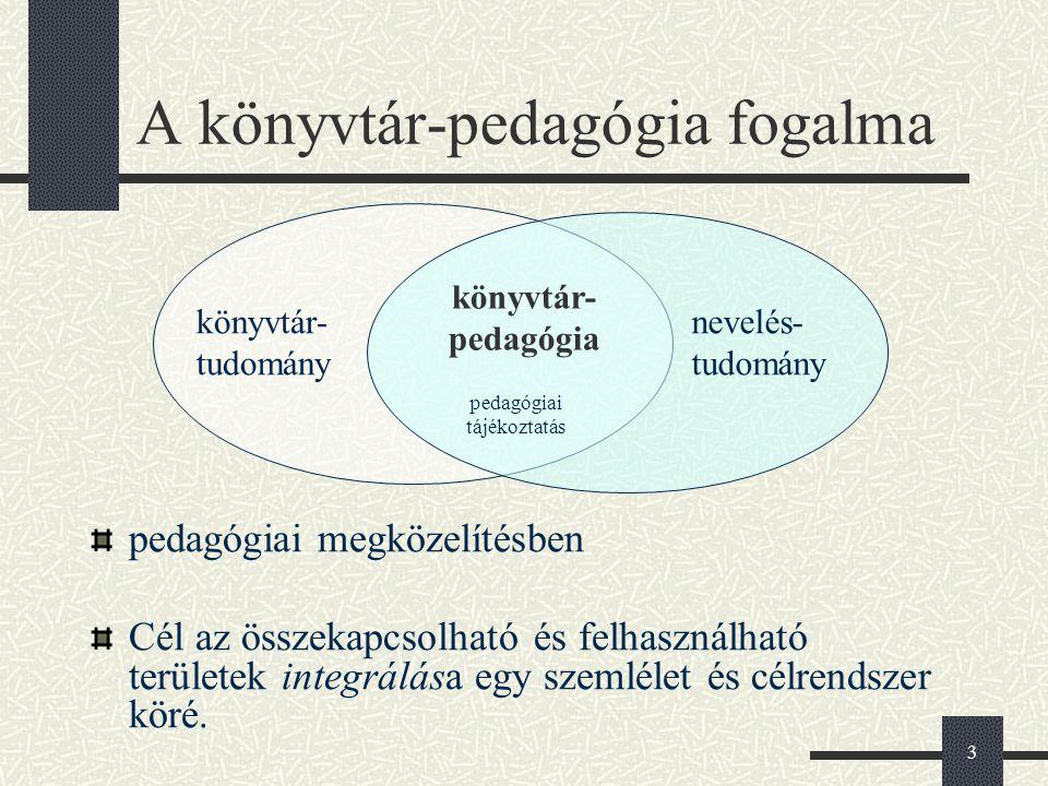 A könyvtár-pedagógia fogalma