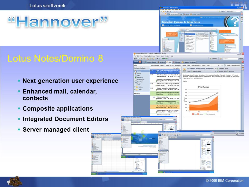 Lotus Notes/Domino 8 Next generation user experience