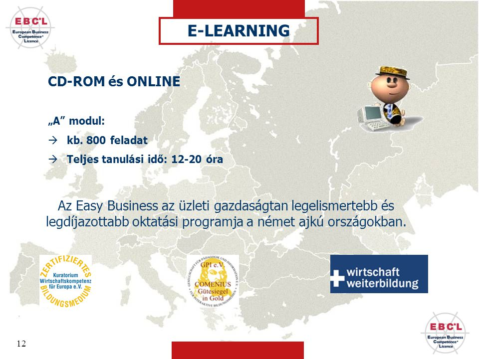 E-LEARNING CD-ROM és ONLINE