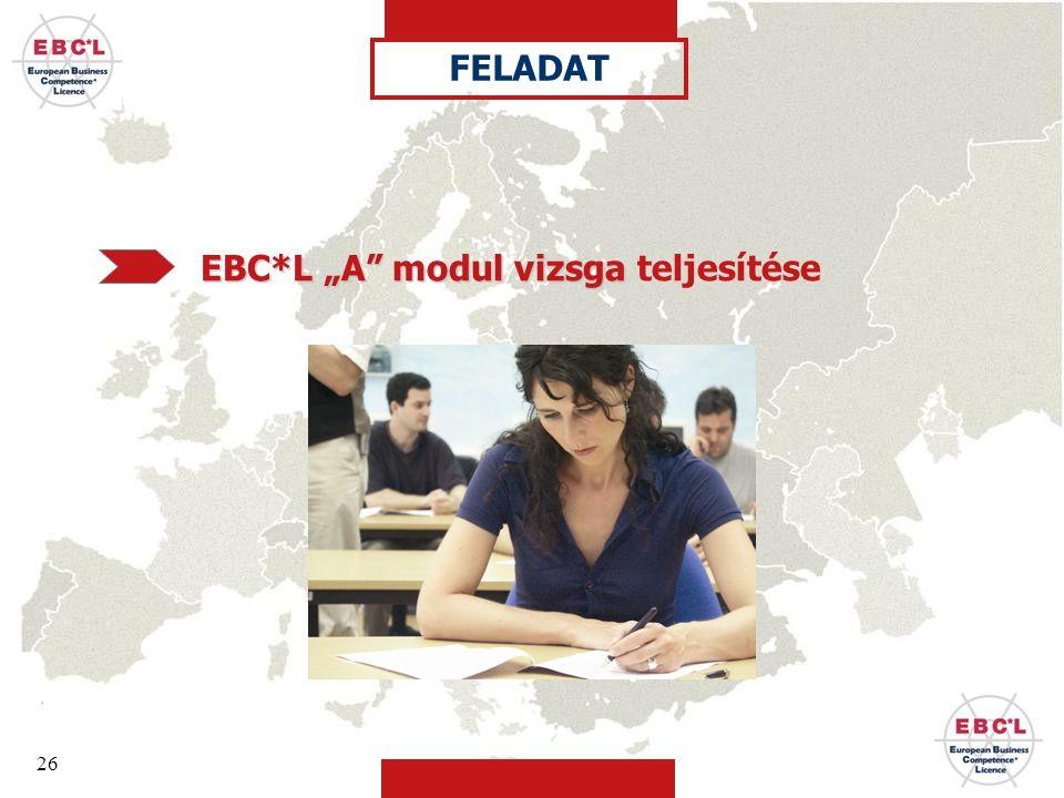 """FELADAT EBC*L """"A modul vizsga teljesítése"""