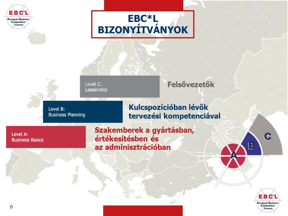 EBC*L BIZONYÍTVÁNYOK Felsővezetők Kulcspozícióban lévők
