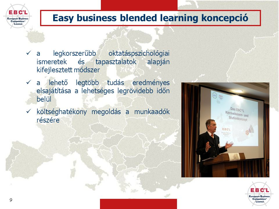 Easy business blended learning koncepció