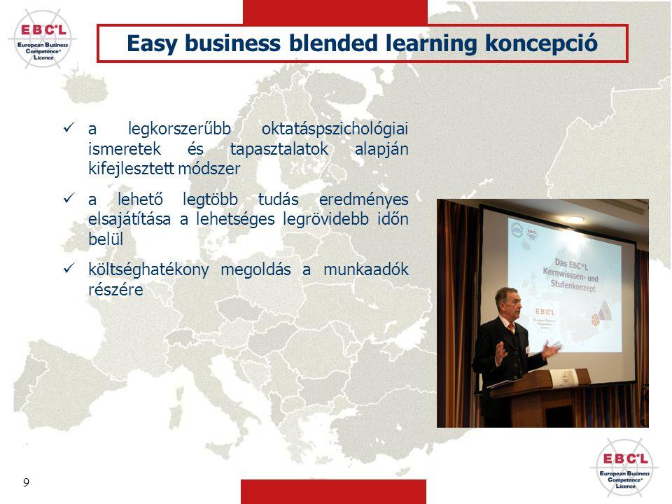 Easy business blended learning koncepció