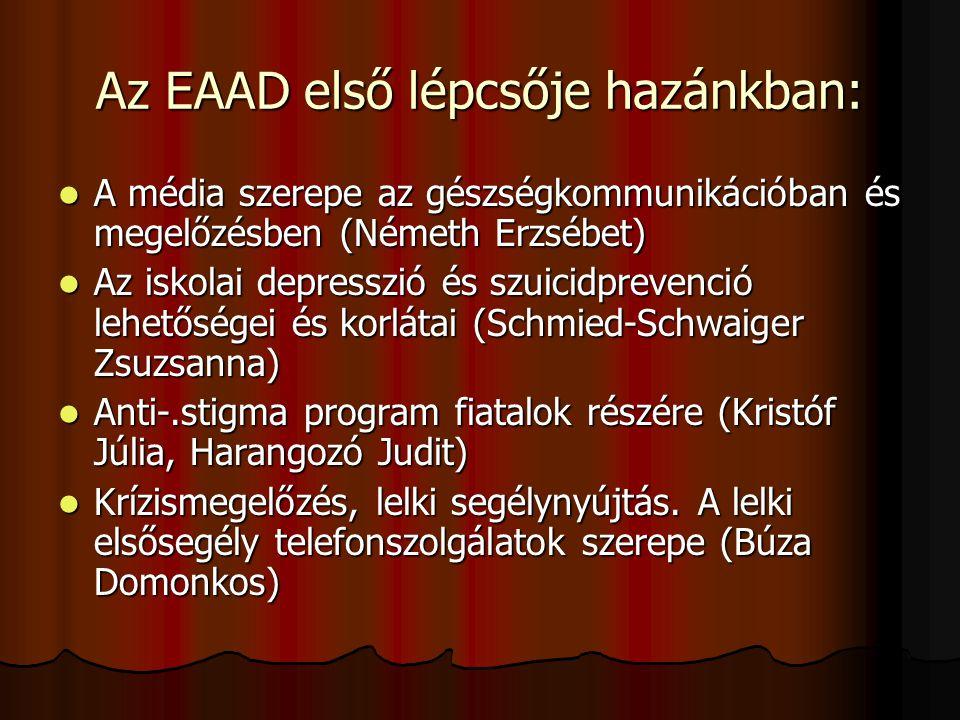 Az EAAD első lépcsője hazánkban: