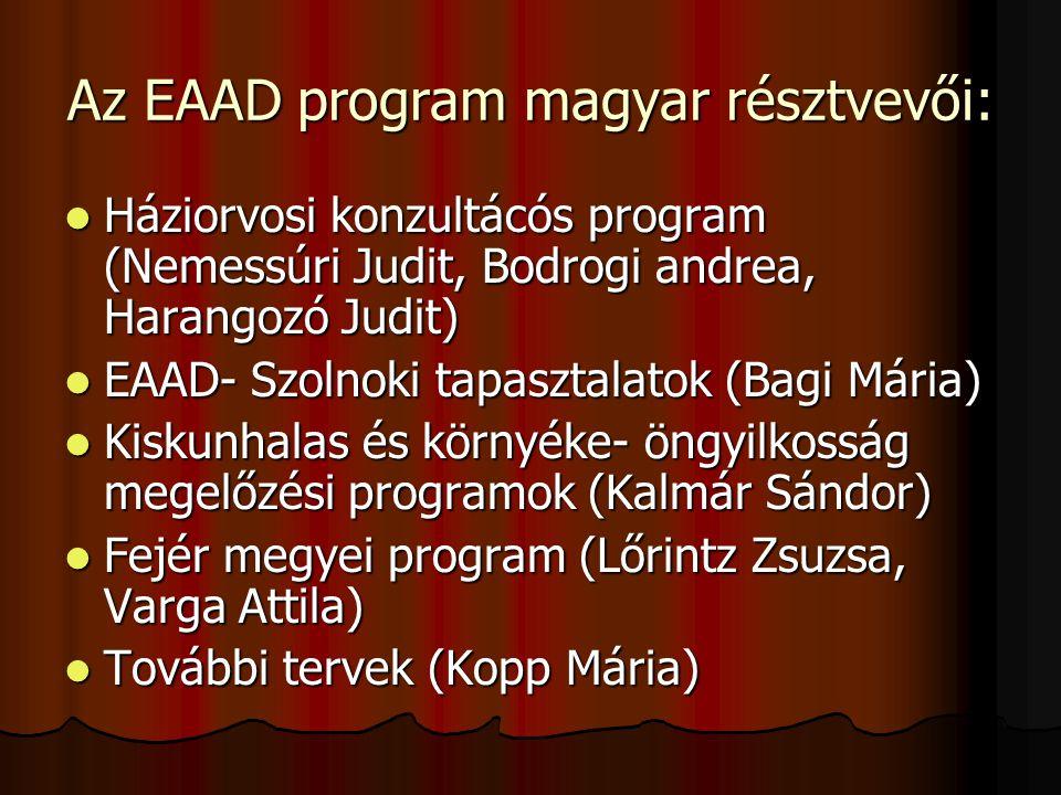Az EAAD program magyar résztvevői:
