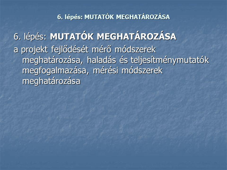 6. lépés: MUTATÓK MEGHATÁROZÁSA