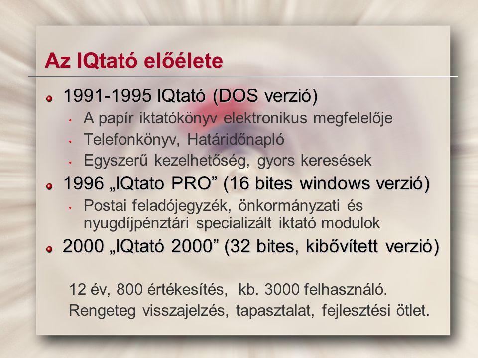 Az IQtató előélete 1991-1995 IQtató (DOS verzió)