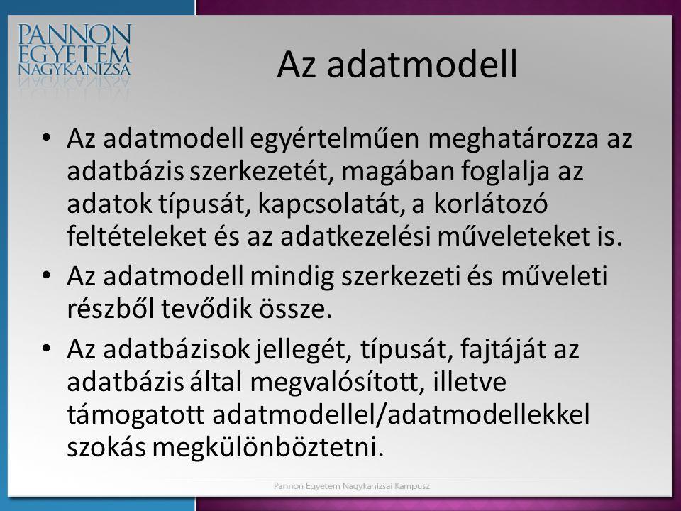 Az adatmodell