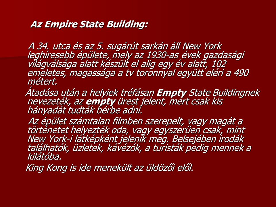 Az Empire State Building: