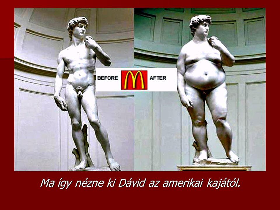 Ma így nézne ki Dávid az amerikai kajától.