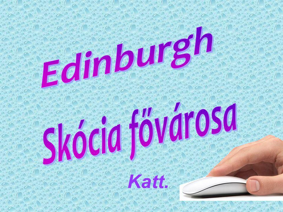 Edinburgh Skócia fővárosa Katt.