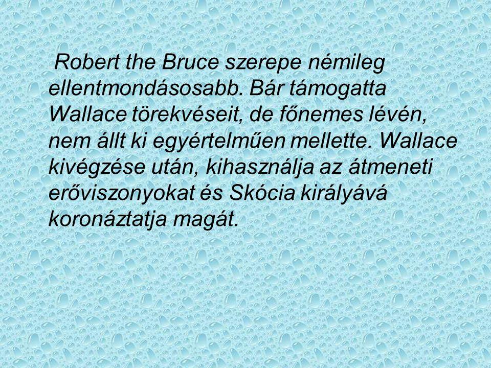 Robert the Bruce szerepe némileg ellentmondásosabb