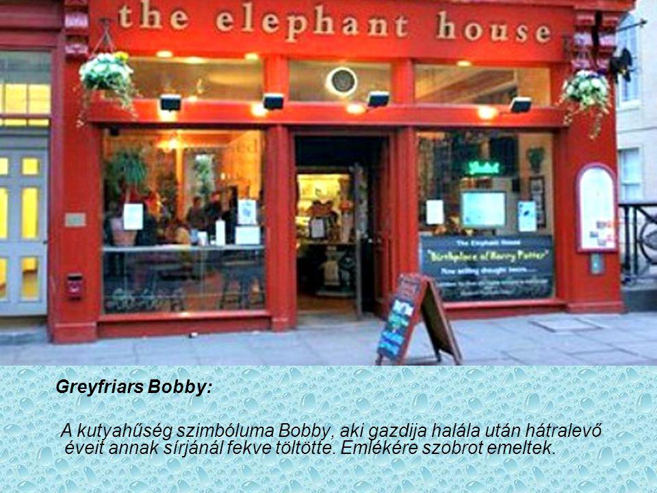 Greyfriars Bobby: A kutyahűség szimbóluma Bobby, aki gazdija halála után hátralevő éveit annak sírjánál fekve töltötte.