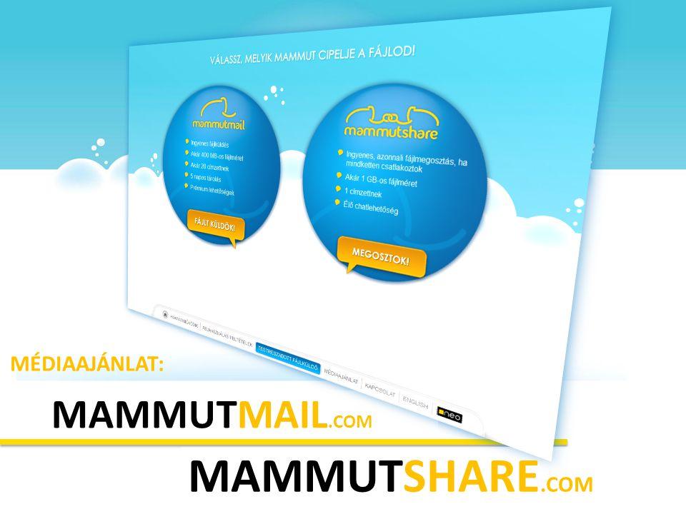MÉDIAAJÁNLAT: MAMMUTMAIL.COM MAMMUTSHARE.COM