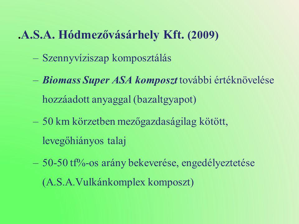 .A.S.A. Hódmezővásárhely Kft. (2009)