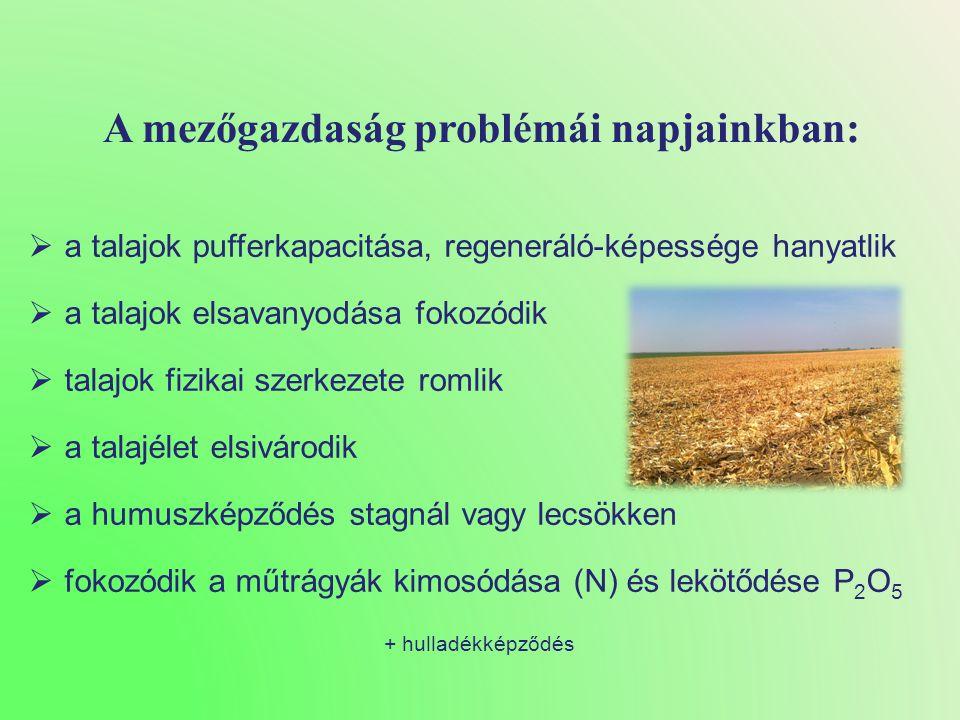 A mezőgazdaság problémái napjainkban: