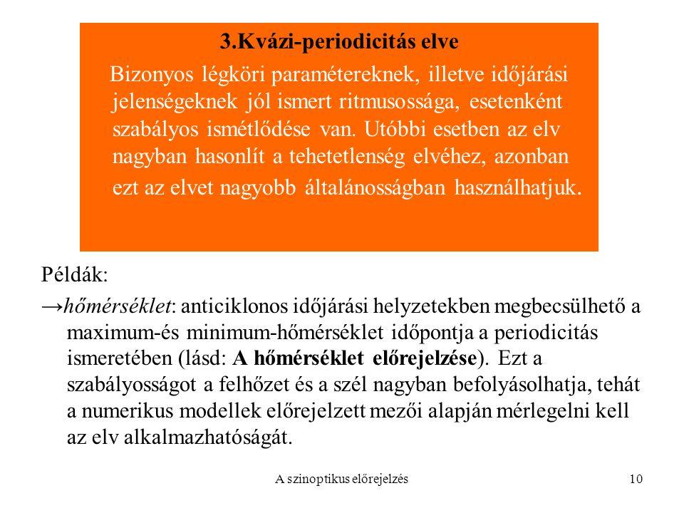 3.Kvázi-periodicitás elve