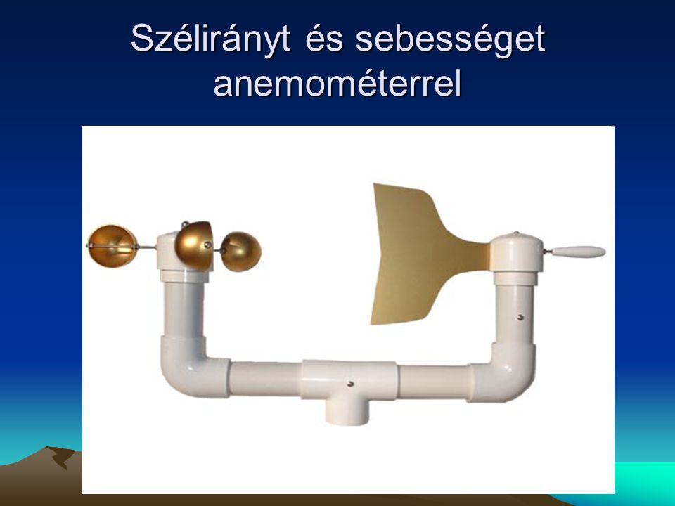 Szélirányt és sebességet anemométerrel