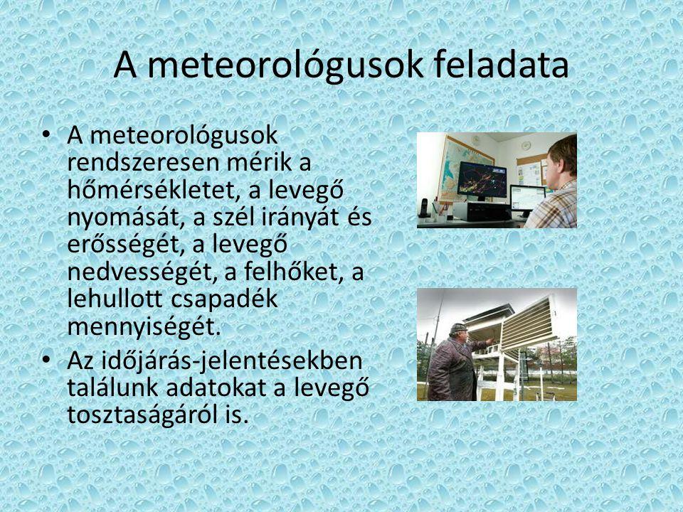 A meteorológusok feladata