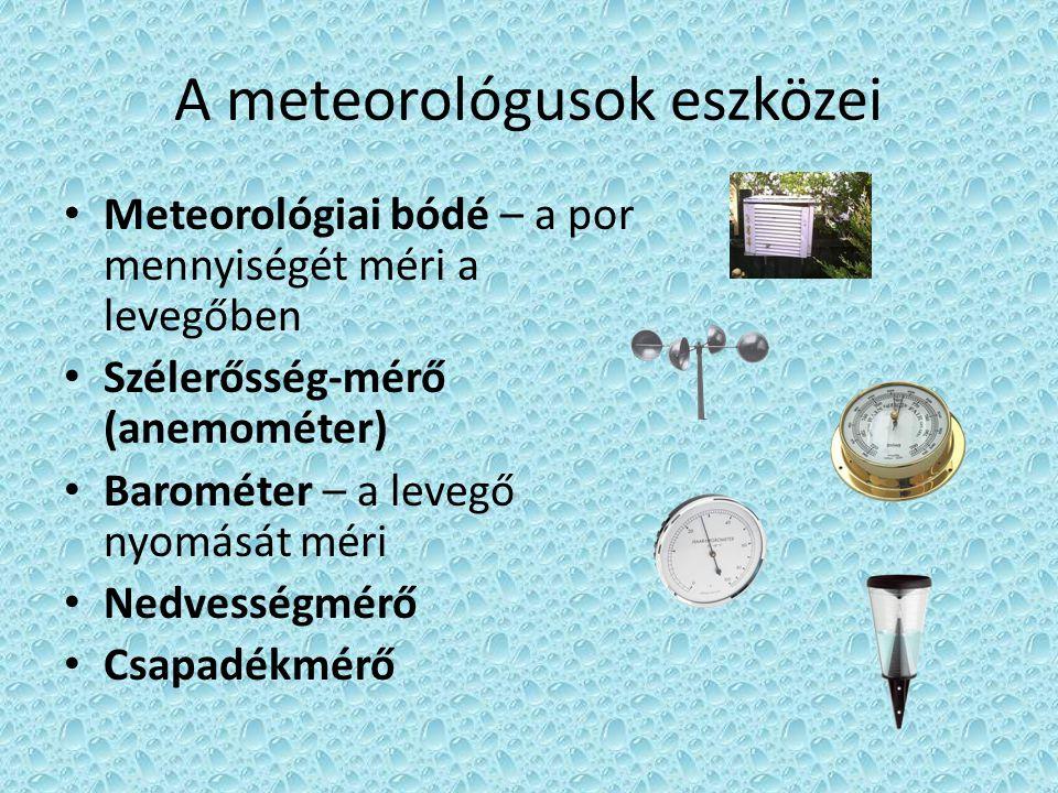 A meteorológusok eszközei