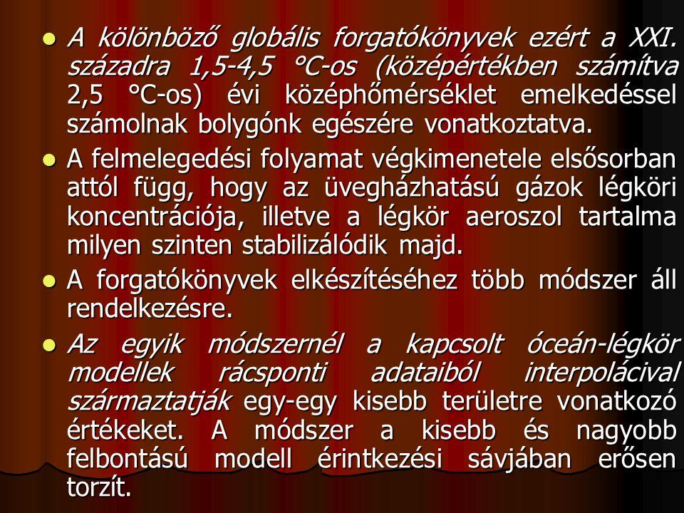A kölönböző globális forgatókönyvek ezért a XXI
