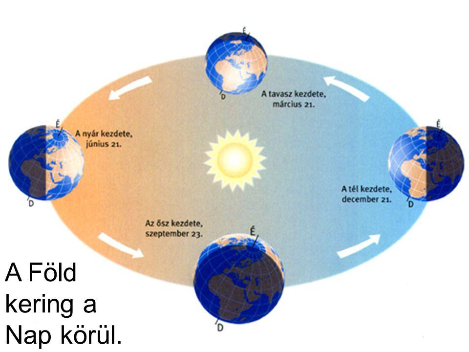 A Föld kering a Nap körül.