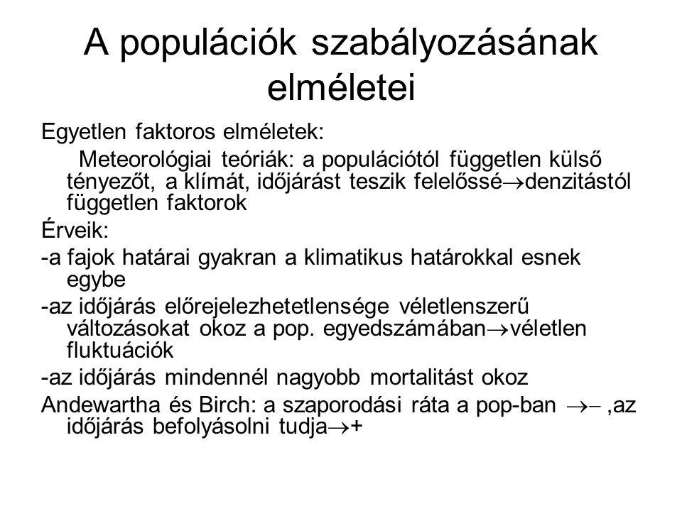 A populációk szabályozásának elméletei