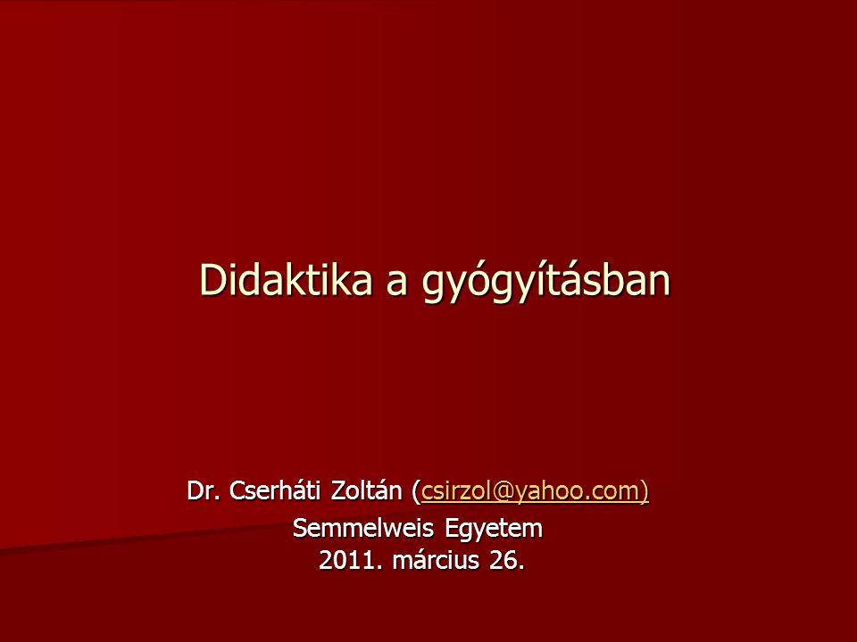 Didaktika a gyógyításban