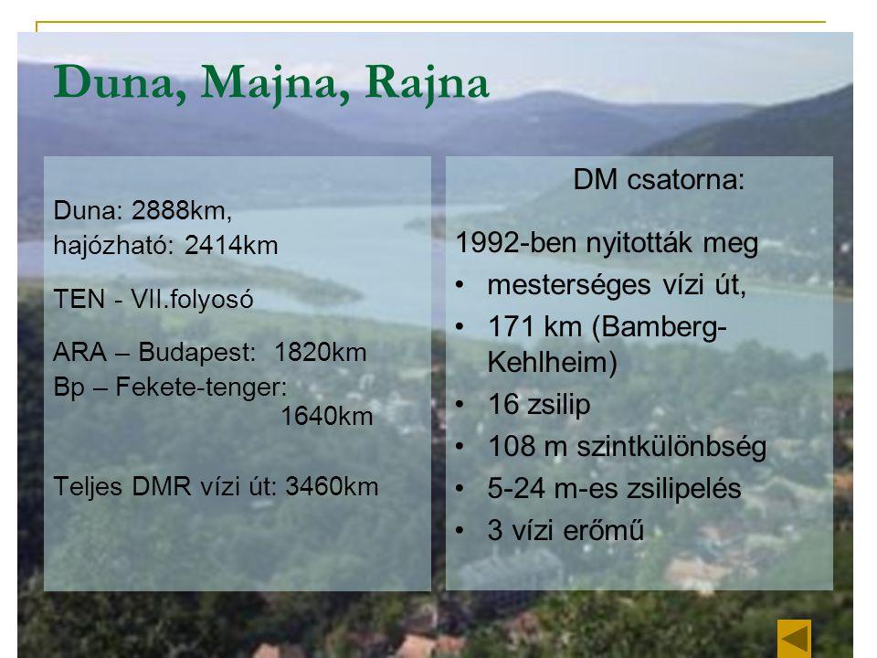 Duna, Majna, Rajna DM csatorna: 1992-ben nyitották meg