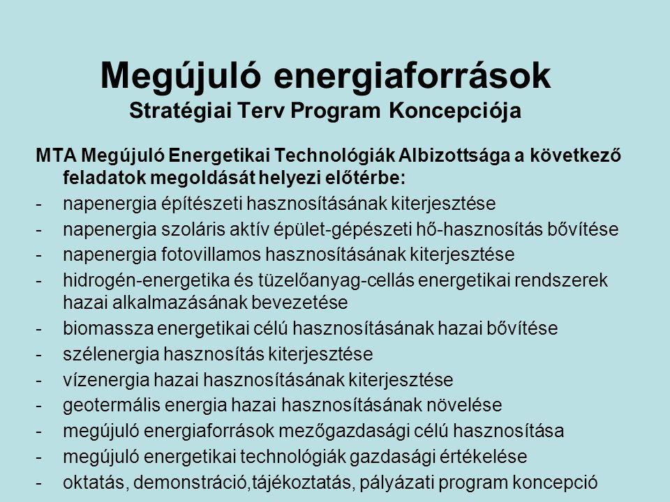 Megújuló energiaforrások Stratégiai Terv Program Koncepciója