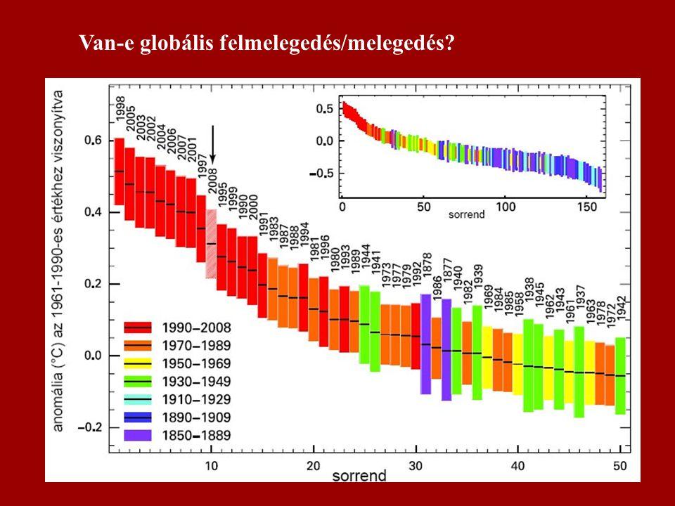 Van-e globális felmelegedés/melegedés