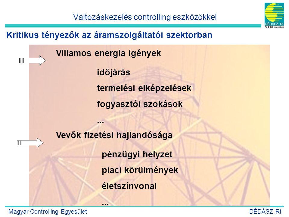Kritikus tényezők az áramszolgáltatói szektorban