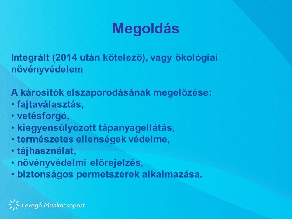 Megoldás Integrált (2014 után kötelező), vagy ökológiai növényvédelem