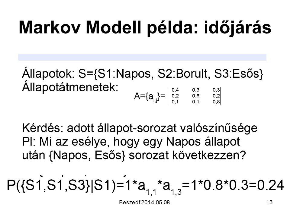 Markov Modell példa: időjárás