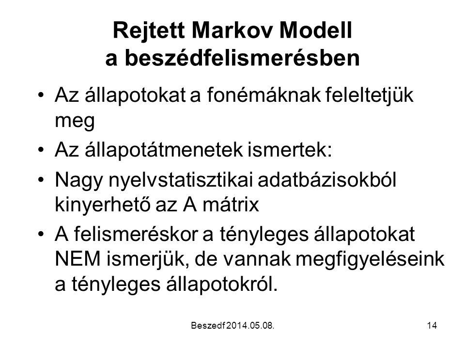 Rejtett Markov Modell a beszédfelismerésben