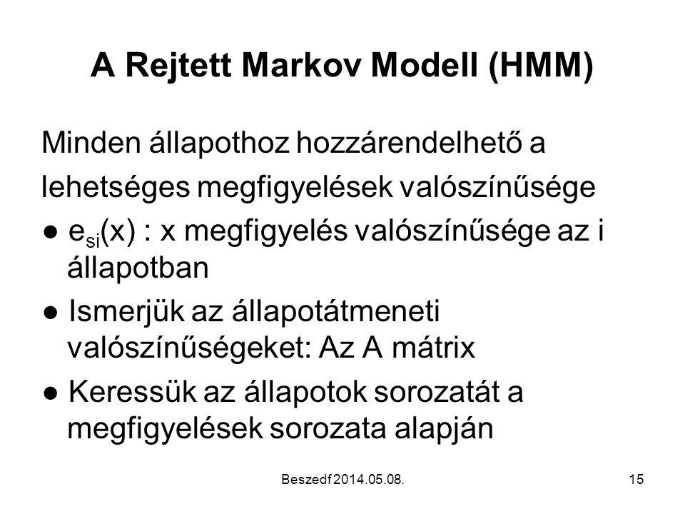 A Rejtett Markov Modell (HMM)