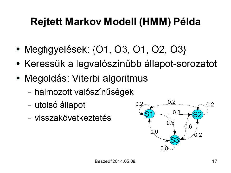 Rejtett Markov Modell (HMM) Példa