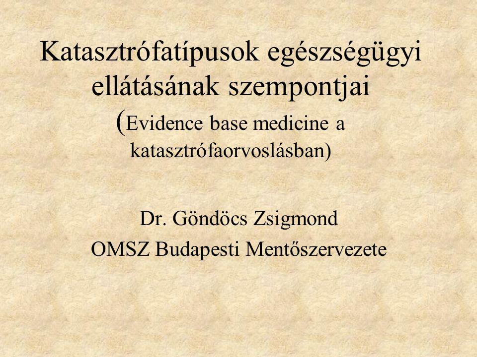 Dr. Göndöcs Zsigmond OMSZ Budapesti Mentőszervezete