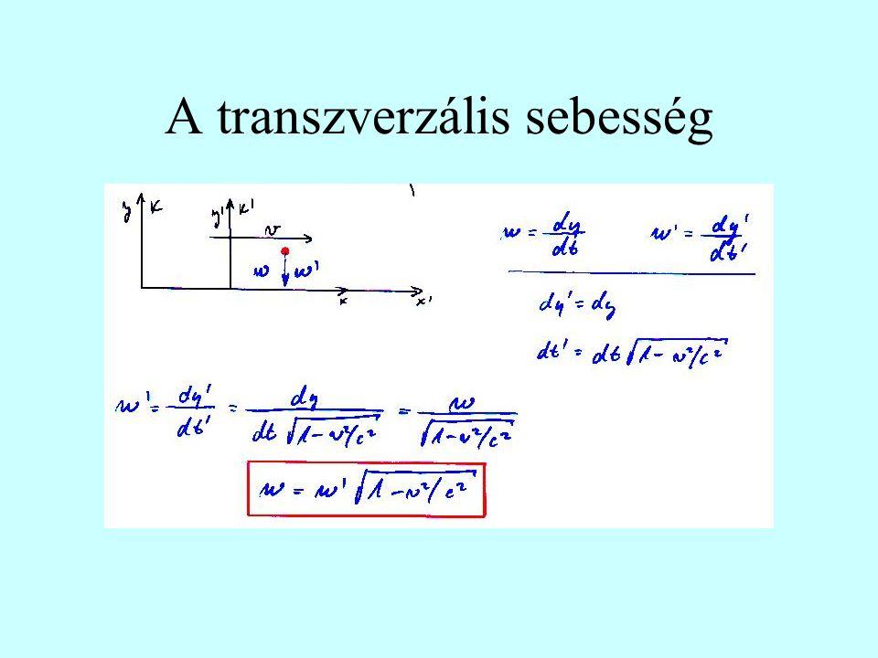 A transzverzális sebesség