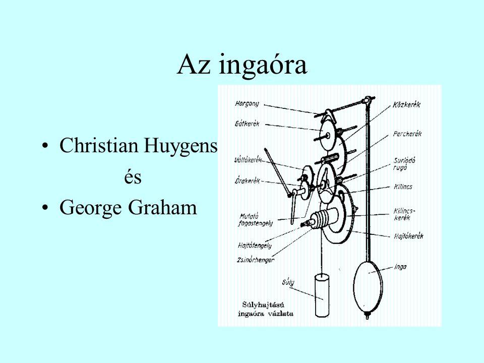 Az ingaóra Christian Huygens és George Graham