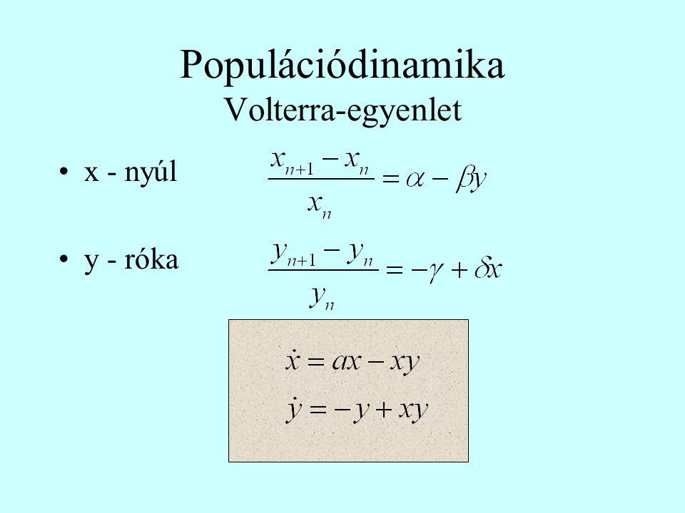 Populációdinamika Volterra-egyenlet
