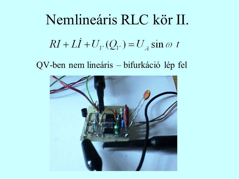 QV-ben nem lineáris – bifurkáció lép fel