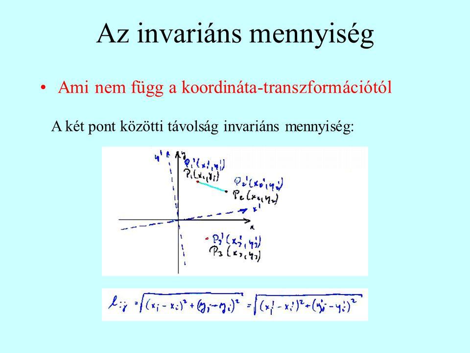 Az invariáns mennyiség