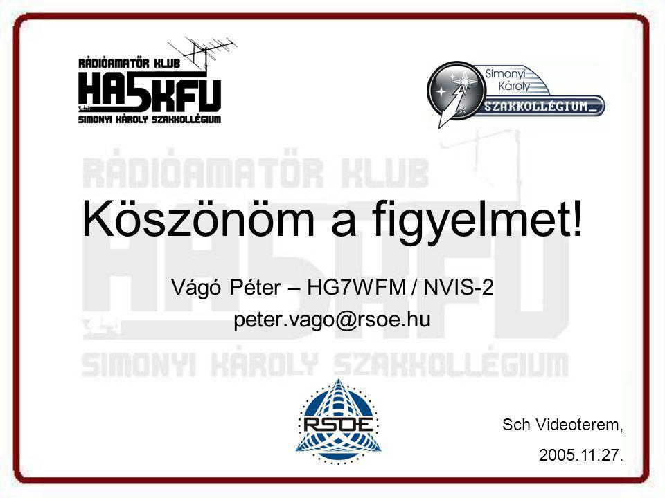 Vágó Péter – HG7WFM / NVIS-2